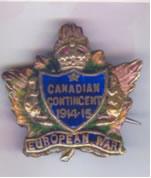 Canadian Contingent Badge 1914-1915