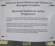 Notice Regarding The Laying Down Of Gravestones