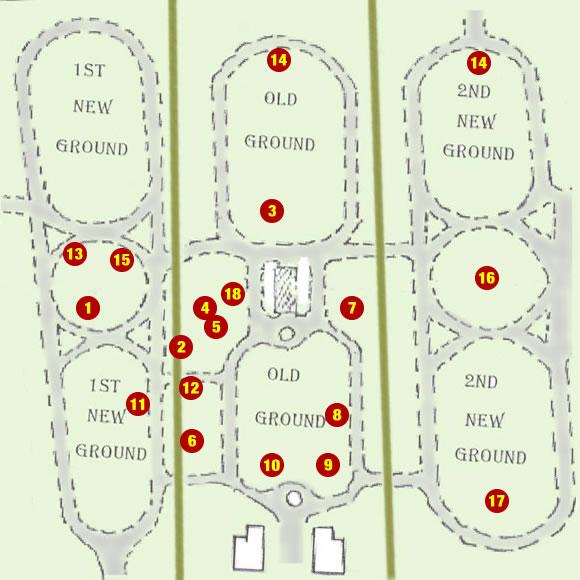 Moorgate Cemetery Schematic