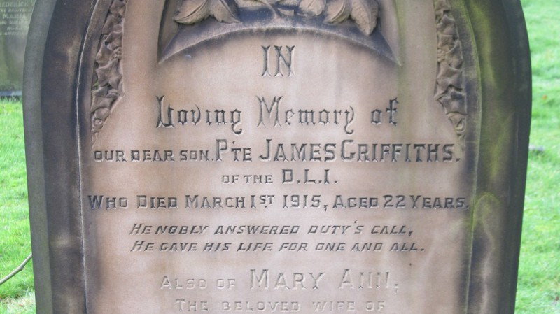 James Griffiths Grave